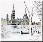 """Parliament Buildings - Winter"""